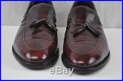 10.5 Vtg Johnston Murphy Presidents Collection Moc Toe Tassel Slip On Dress Shoe