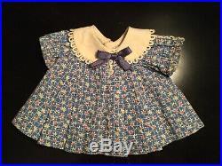 13 Vintage Shirley Temple TAGGED blue floral Loop Dress + Slip/Undie Combo