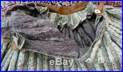 1830 antique petticoat, Biedermeier petticoat, underskirt, antique dress, gown