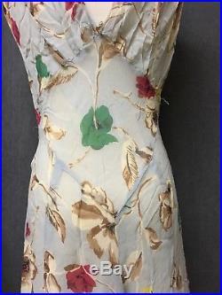 1920s/30s Bias Cut Silk Crape Dress And Jacket With Handmade Slip By Yolande
