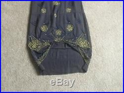 1920s 30s Original cotton Dress With cotton slip and beads, size M