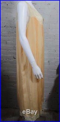 1920s Slip Peach Lingerie Night Gown Gatsby Era Flapper M L