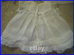 1930 Effanbee DollPatsy Lou 22 CompositionOriginal Organdy Dress/Hat/Slip/etc