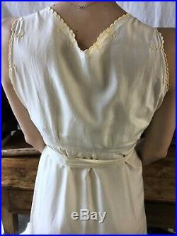 1930's Vtg Dress Silk Vtg 1920's Slip Dress Vtg Lingerie Dress