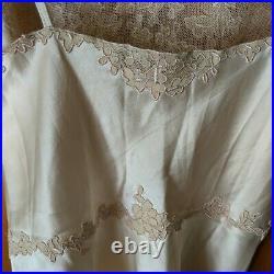 1930s Ivory Silk & Lace Charmeuse Slip Dress