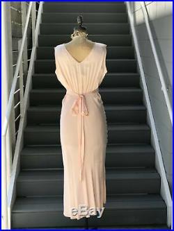 1930s Peach Barbizon Nightgown Slip Dress