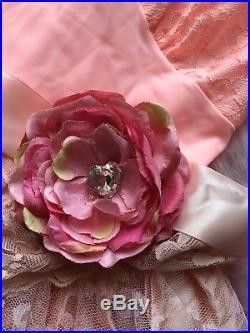 1950s Vintage Deconstructed Slip Prom Dress Boho Wedding Pink Lolita Dolls Kill