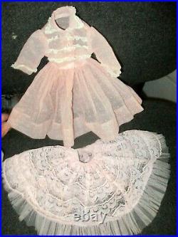 1958 Madame Alexander Elise Doll Sheer Dress withSlip Matches Cissy Dress #2230