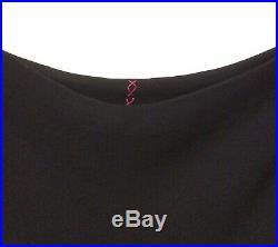 1960s Couture Hardy Amies Bias Cut Black Slip Dress UK 8