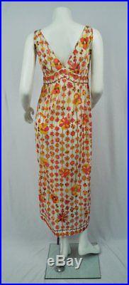 1970's Emillo Pucci sleeveless slip dress/VTG PUCCI -S/M