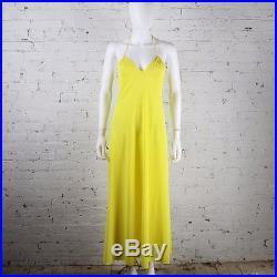 1970s John Kloss for Circa Maxi Dress Yellow strappy disco halter Festival slip
