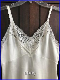 1970s Vintage Christian Dior Lingerie Slip Dress Nightie Made in USA Sz 34-36