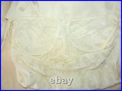1990's Christian Dior Sheer Ivory Mesh Lace Underwire Slip Dress 36B