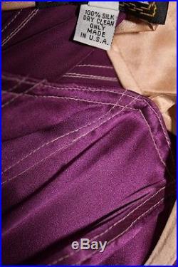 1990s TRACY FEITH Slip Dress Stunning Silk satin purple pink lingerie look XS