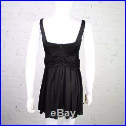 1990s Versace Jeans Couture Dress VJC black slinky mini bodycon slip lingerie XS