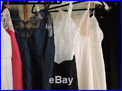 30 pc Vintage Lot Of DRESSES VINTAGE CLOTHING LOT VTG DRESSES slips lingerie