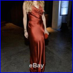 90s Y2K Vintage Ralph Lauren Backless Silk Satin Slip Gown Spaghetti Strap