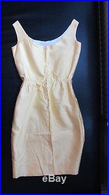 A Vintage Yellow Dress with White Lace Slip (1950's)