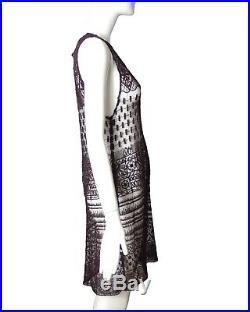 ANN DEMEULEMEESTER-1990s Black Pin Lace Slip Dress, Size-6