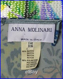 ANNA MOLINARI-1990s Voided Velvet Slip Dress, Size-6