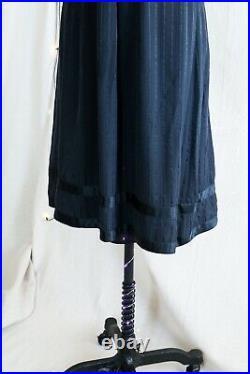 ASO Rory in Gilmore Girls Black Silk MJ Tie Waist Silk Dress + Slip Size US 4
