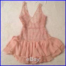 Agent Provocateur Vanessah Slip Pink 4 Dress Luxury Lace Gown Tutu Vintage