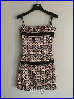 Aiuth Chanel Vintage CC Logo Slip Dress Size34 Us2