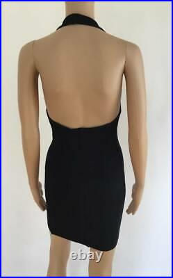 Alaia Vintage Sexy Bustier Halter Dress Size Small
