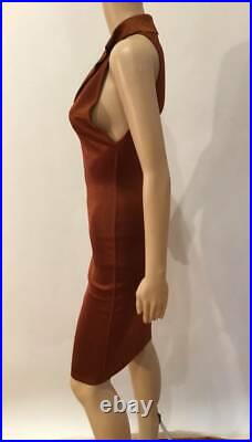 Alaia Vintage Sexy Plunging Racer Back Dress Size S