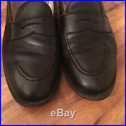 Alden New England Mens 12 B / D Vintage Leather Oxford Slip On Dress Shoes