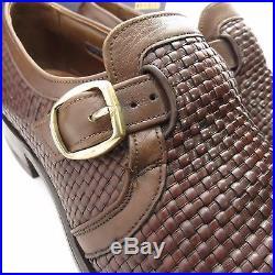Allen Edmonds Ostendo Brown Slip On Vintage Dress Shoes Mens Size 9.5c