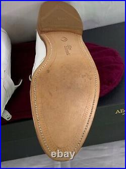 Allen Edmonds Riviera Shoe, Slip On Loafers, White Leather, Vintage, Mens 13D
