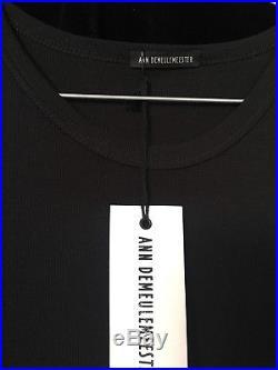 Ann Demeulemeester Slip dress new Vintage 2000 modal Rayon jersey black Medium