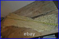 Antique 1800s Pale Yellow Dress With Slip / Small/ Wear As Is (A-C)