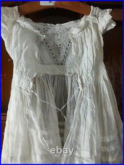 Antique 1810s Empire girls Slip Petticoat SMALL