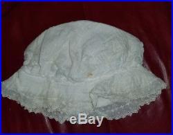 Antique Baby Child Doll Clothes Dresses Slip Bonnets