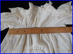 Antique Child / Doll 3Pc Outfit Circa 1910 Edwardian Dress Slip Bloomers Eyelet