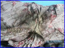 Antique Civil War Velvet Silk Gown Dress & Slip Victorian 1860s
