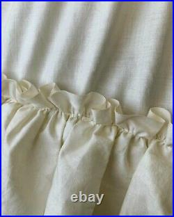 Antique Cotton Flexible Hoop Skirt Petticoat Slip Gown 3 Tiered Vintage