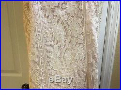 Antique Edwardian All Lace Dress With Pink Slip Under Separate Gorgeous History