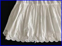 Antique Edwardian Cotton Princess Slip Dress