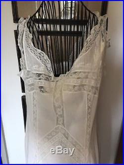 Antique Edwardian Victorian Era White Slip petticoat dress LACE BRIDE Wedding