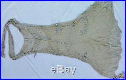 Antique Edwardian Wedding Bride Dress Rhinestones Beading with Slip Victorian