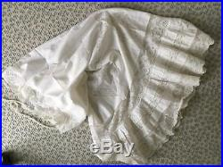 Antique French Chemise Petticoat Camisole Dress Victorian Lace White Cotton
