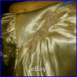 Antique Ivory Satin Wedding Dress and Slip 1930's Vintage Gown
