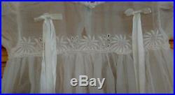 Antique L'Enfant White Embroidered Christening Dress with Slip