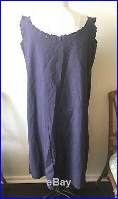 Antique Overdyed 1920s 1930s Slip Night Gown Cotton Dress XL 1X 45 Bust