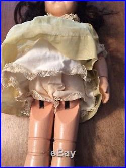 Antique Schoenhut 16 1/2 Inch Wood Doll with Vintage Dress Slip Undergarment
