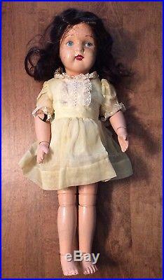Antique Schoenhut LARGE 16 1/2 Inch WOOD DOLL Vintage Dress Slip Undergarment