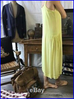 Antique Silk Slip Dress Edwardian Vtg 1920's Dress Robe Ancienne Soie